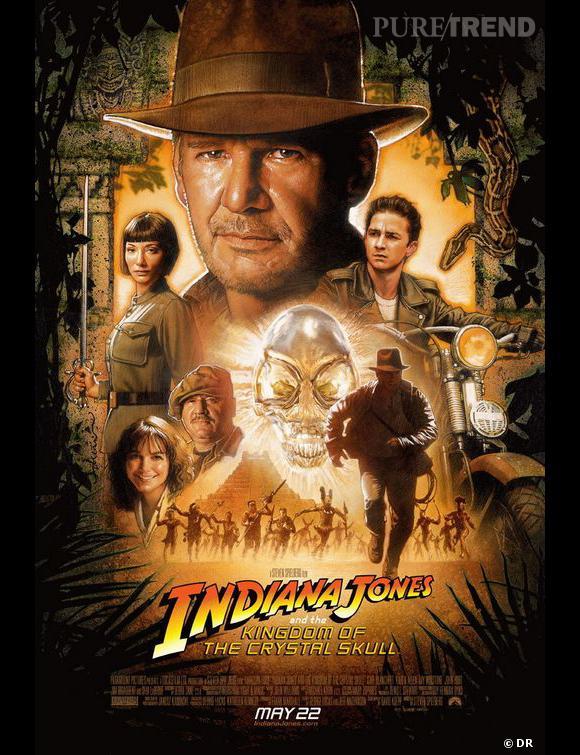 """""""Indiana Jones, Le royaume du crâne de cristal"""", la plus mauvaise suite de la saga selon les critiques."""
