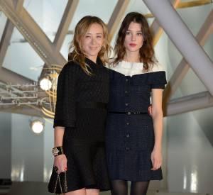 """Sylvie Testud et Astrid Berges-Frisbey à l'avant-première de """"Waltz for Monica""""."""