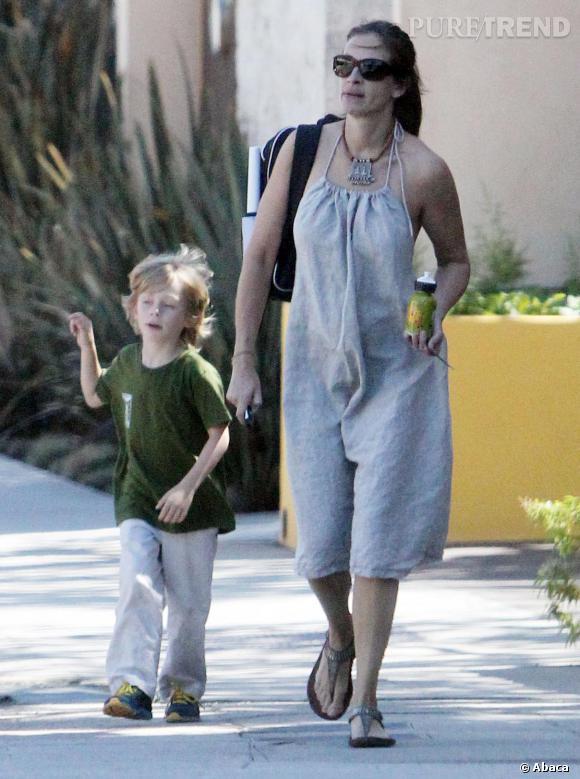 Julia Roberts et son petit dernier, Henry.