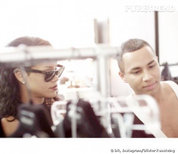 Rihanna, nouvelle égérie Balmain aux côtés d'Olivier Rousteing.