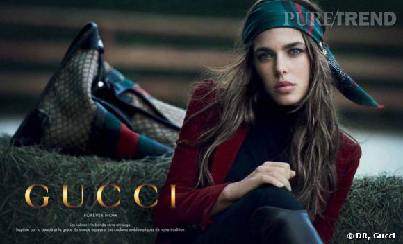 """Charlotte Casiraghi pour la campagne """"Forever Now"""" de Gucci en 2012."""