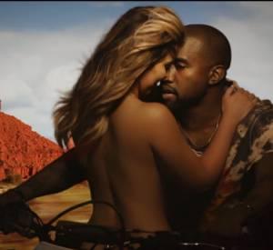 "Kim Kardashian et Kanye West dans leur clip ""Bound 2""."