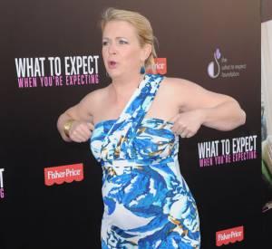 Enceinte, Melissa Joan Hart ne veut pourtant pas renoncer au tapis rouge. Même si elle n'est pas toujours à l'aise.