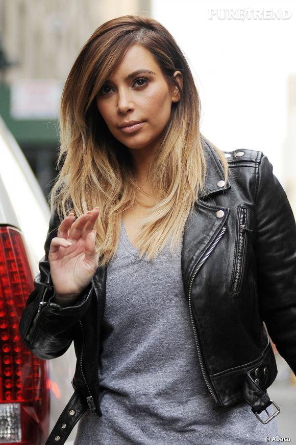 Coiffure tie and dye kim kardashian for Coupe de cheveux tie and dye