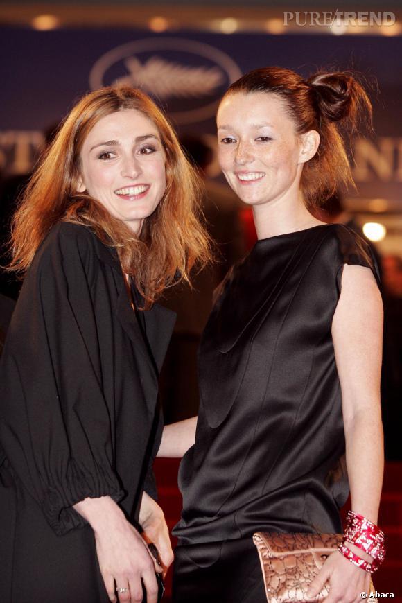 Julie Gayet et Audrey Marnay au Festival de Cannes 2005.