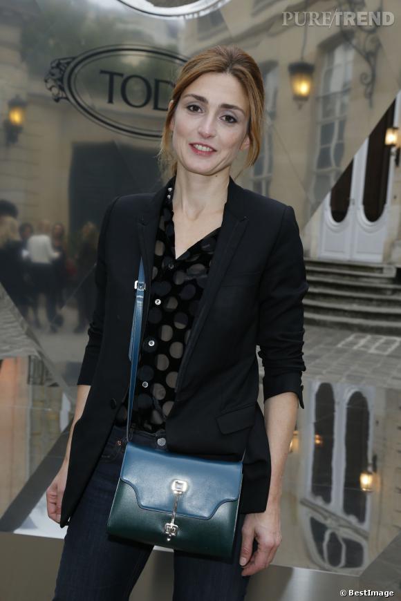 """Julie Gayet à la présentation de la collection """"Signature"""" de Tod's en septembre 2012."""