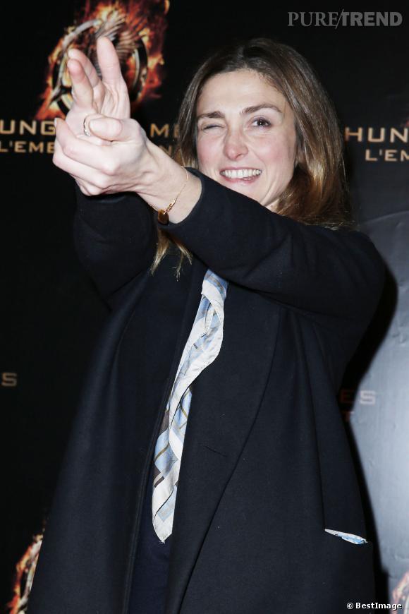 """Julie Gayet à l'avant-première d""""Hunger Games""""."""