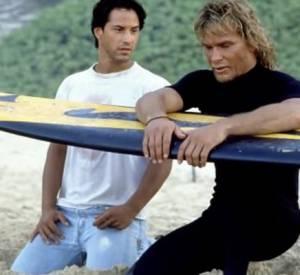 "Keanu Reeves et Patrick Swayze dans ""Point Break"" en 1991."