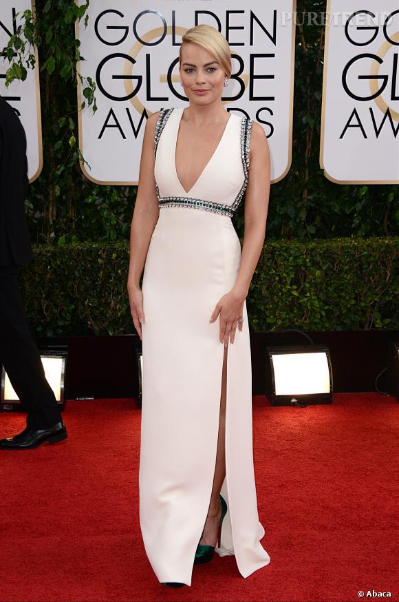 Margot Robbie à la 71ème cérémonie des Golden Globes, édition 2014.