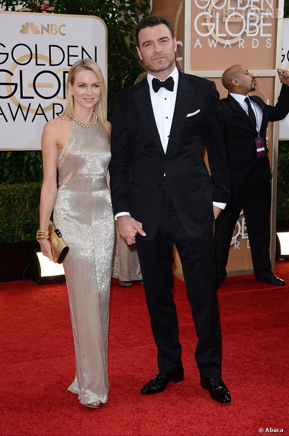 Naomi Watts et Liev Schieber à la 71ème cérémonie des Golden Globes, édition 2014.