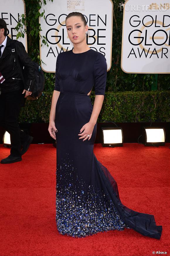 Adele Exarchopoulos en robe Miu Miu à la 71ème cérémonie des Golden Globes, édition 2014.