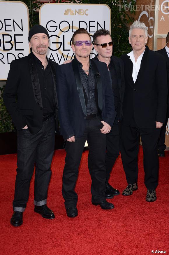 U2 à la 71ème cérémonie des Golden Globes, édition 2014.