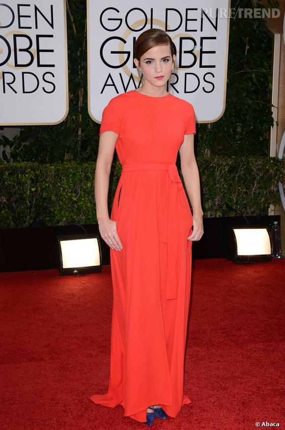Emma Watson à la 71ème cérémonie des Golden Globes, édition 2014.