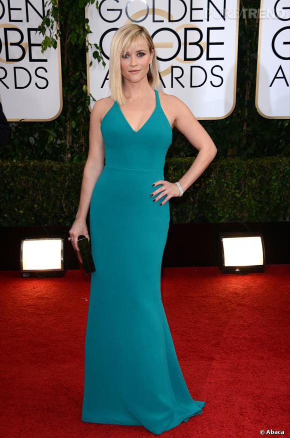 Reese Witherspoon à la 71ème cérémonie des Golden Globes, édition 2014.