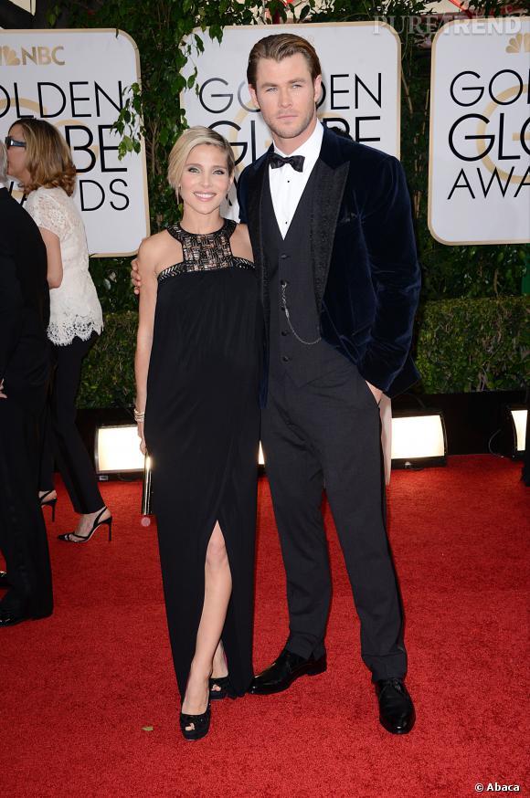 Chris Hemwsorth et Elsa Pataky à la 71ème cérémonie des Golden Globes, édition 2014.