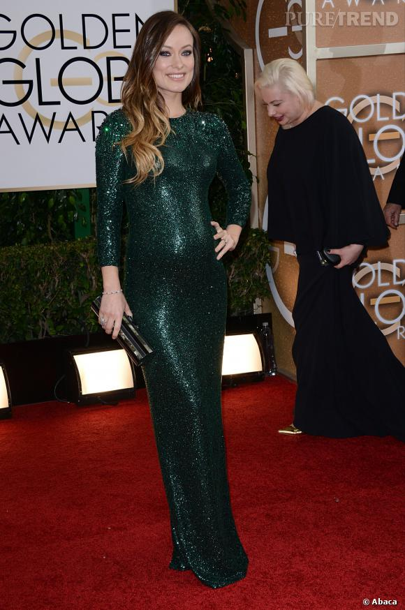 Olivia Wilde à la 71ème cérémonie des Golden Globes, édition 2014.
