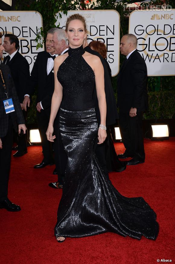 Uma Thurman à la 71ème cérémonie des Golden Globes, édition 2014.