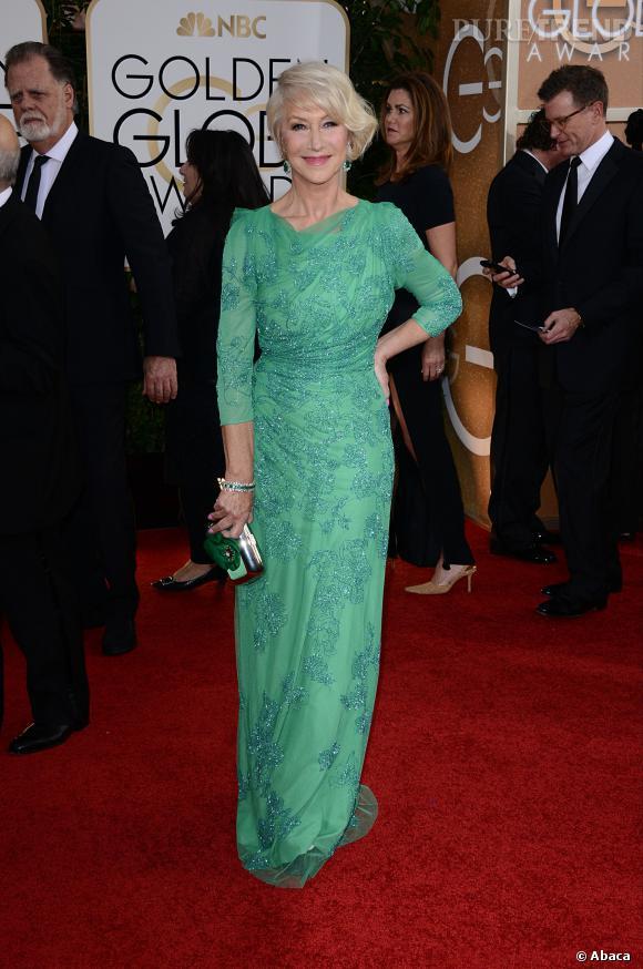 Helen Mirren à la 71ème cérémonie des Golden Globes, édition 2014.