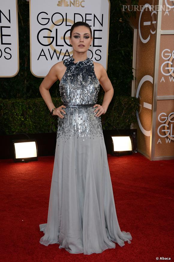 Mila Kunis à la 71ème cérémonie des Golden Globes, édition 2014.