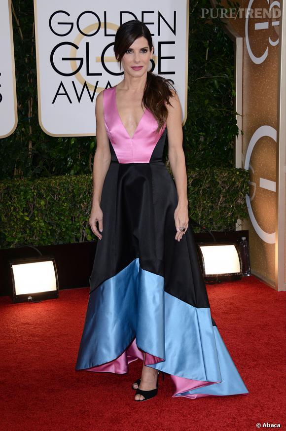 Sandra Bullock à la 71ème cérémonie des Golden Globes, édition 2014.