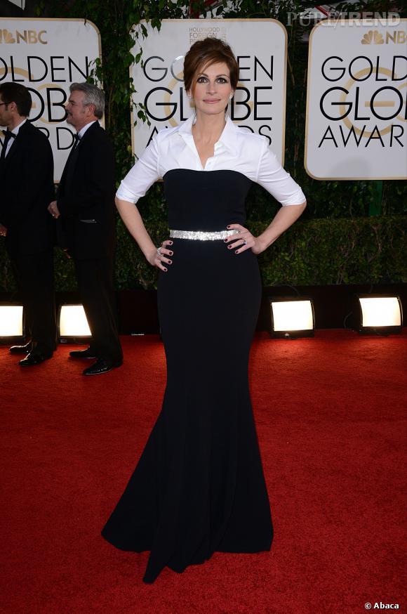 Julia Roberts à la 71ème cérémonie des Golden Globes, édition 2014.