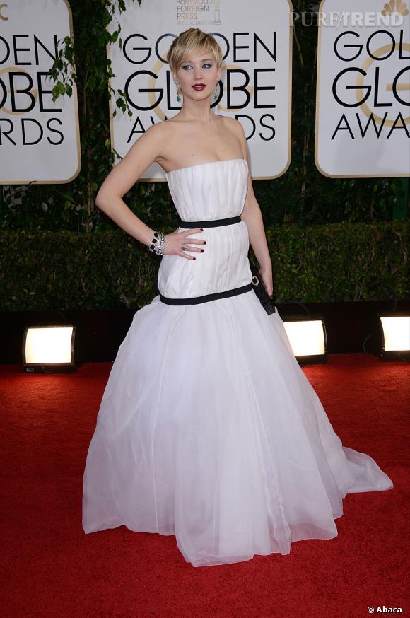 Jennifer Lawrence à la 71ème cérémonie des Golden Globes, édition 2014.