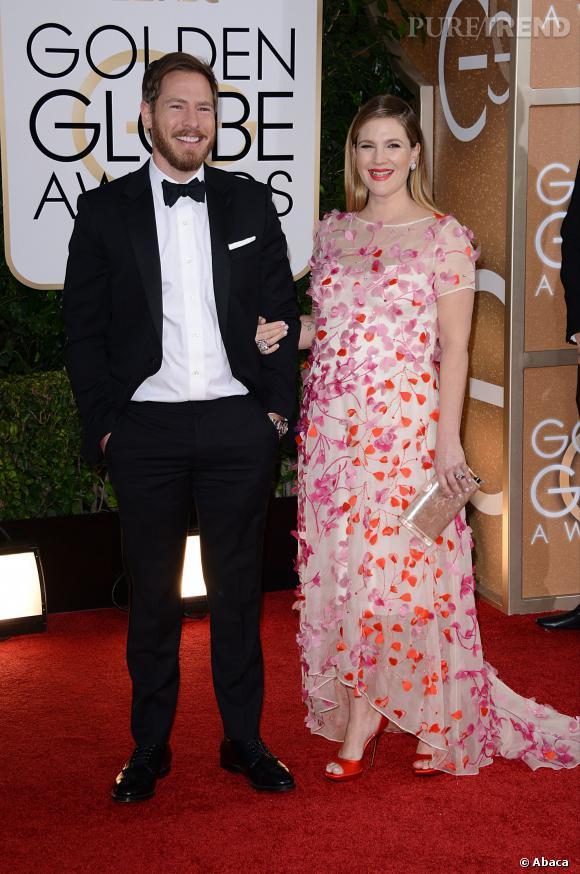 Drew Barrymore à la 71ème cérémonie des Golden Globes, édition 2014.