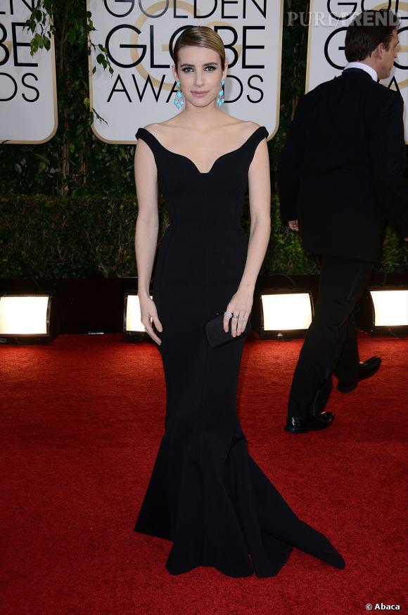 Emma Roberts à la 71ème cérémonie des Golden Globes, édition 2014.