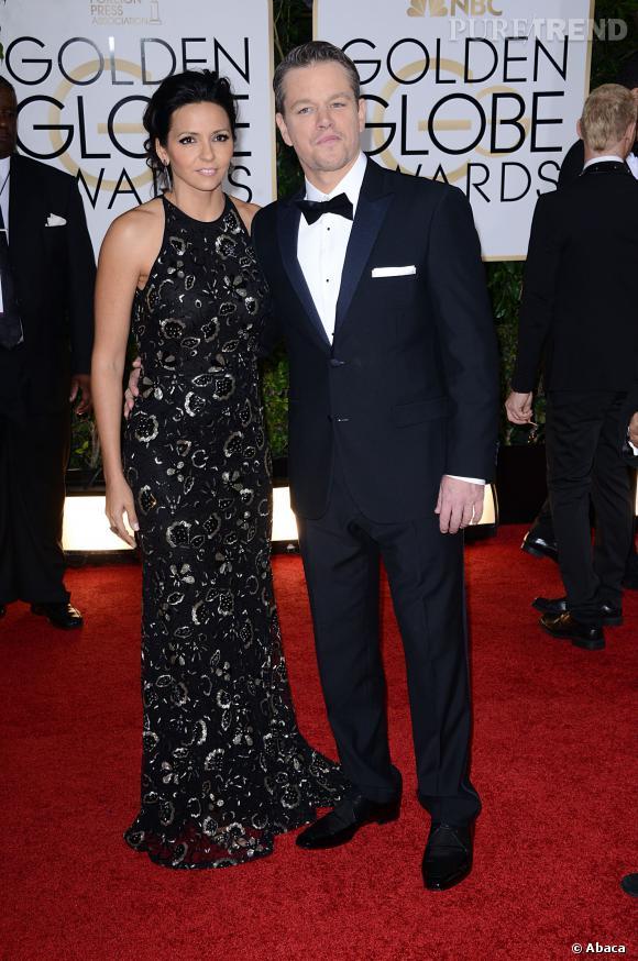 Matt Damon à la 71ème cérémonie des Golden Globes, édition 2014.