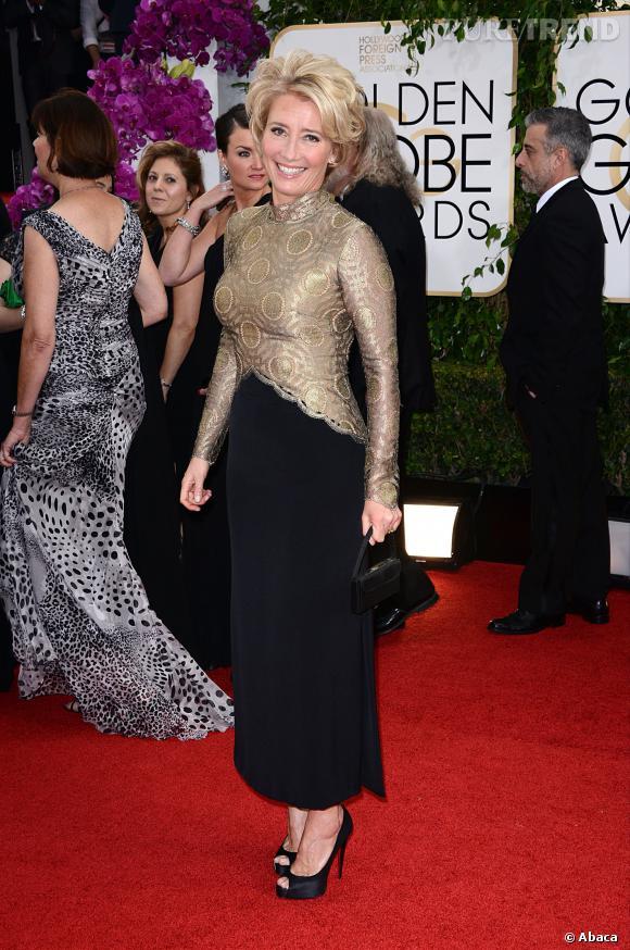 Emma Thompson à la 71ème cérémonie des Golden Globes, édition 2014.