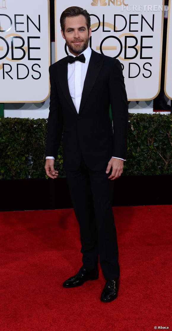 Chris Pine à la 71ème cérémonie des Golden Globes, édition 2014.