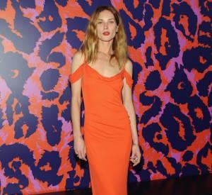 """Erin Wasson au vernissage de l'exposition """"Journey of a Dress""""."""