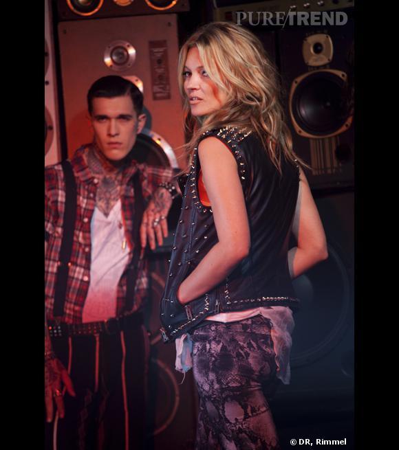 Kate Moss sexy et dangereuse pour la campagne Rimmel.