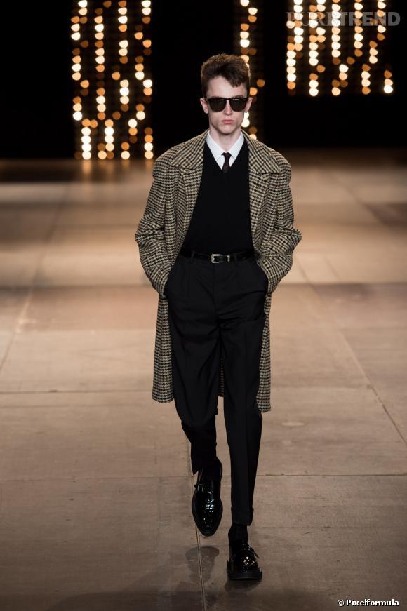 Fashion Week Homme Automne-Hiver 2015/2015 : Défilé Saint Laurent.