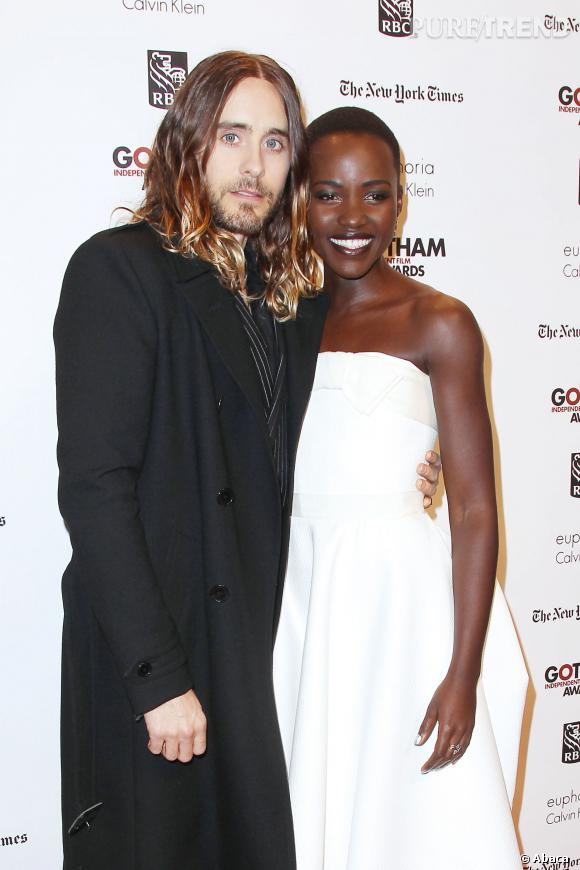 Lupita Nyong'o et Jared Leto aux  Gotham Independent Film Awards à New York, le 2 décembre 2013.