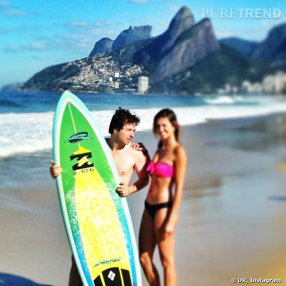 Jean Imbert et Alexandra Rosenfeld lors de leur voyage au Brésil, l'été dernier.