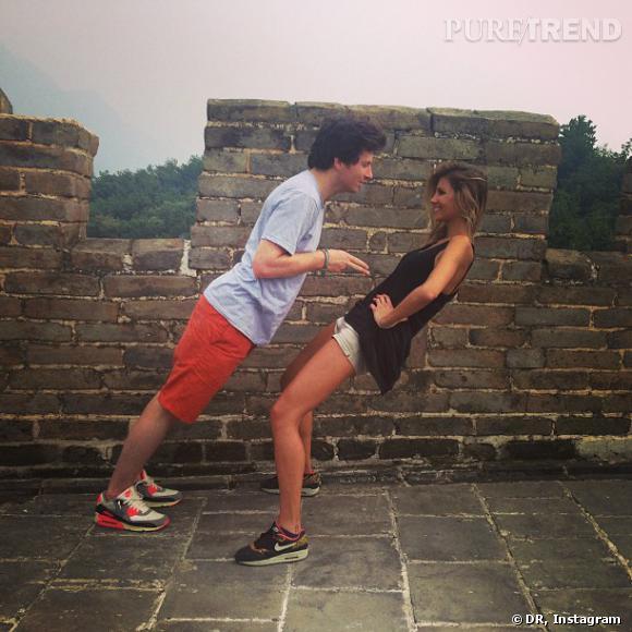 Jean Imbert et Alexandra Rosenfeld, complices sur la muraille de Chine.