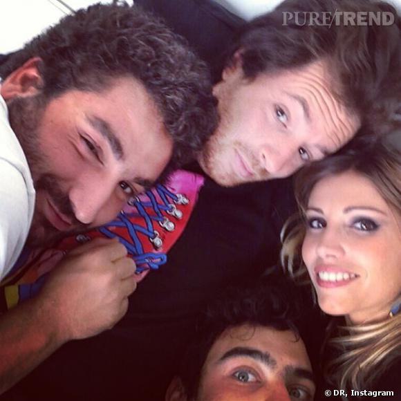 Jean Imbert, Alexandra Rosenfeld et Mouloud Achour lors d'un selfie encombré !