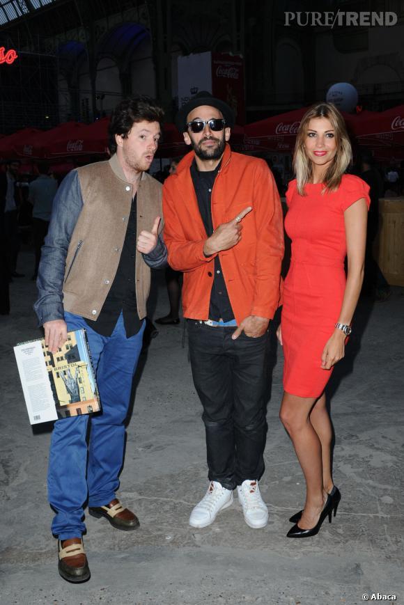 """Jean Imbert, JR et Alexandra Rosenfeld lors de l'exposition """"L'Echappée Belle"""" au Grand Palais."""