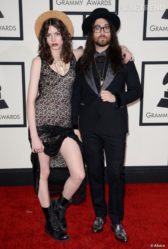Charlotte Kemp Muhl et Sean Lennon, le couple dandy chic le plus cool des Grammy Awards 2014.