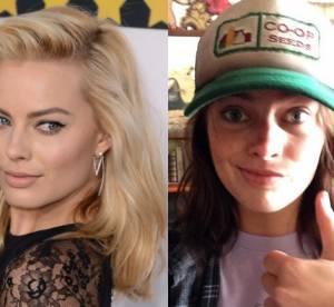 Margot Robbie sans maquillage : la blonde sexy passe au brun pour Chris Pine