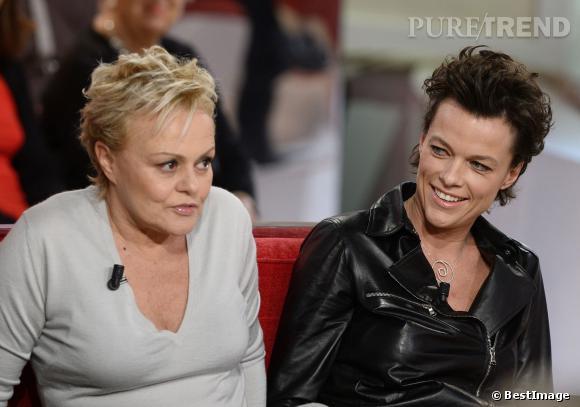 Muriel Robin et Anne Le Nen sur le plateau de Vivement dimanche.