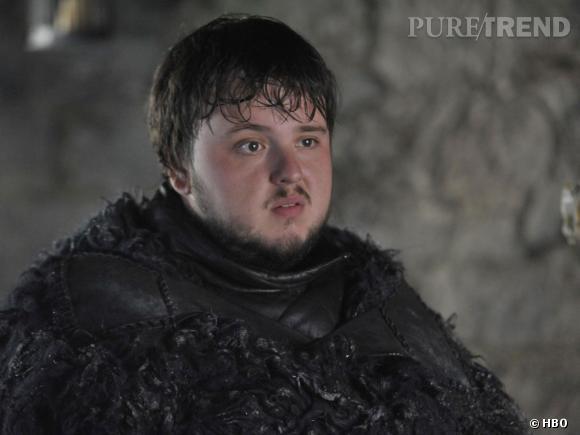 "John Bradley, alias Samwell Tarly dans la saison 4 de ""Game of Thrones""."
