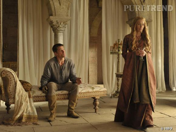 """Nikolaj Coster Waldau (Jaime Lannister) et Lena Headey (Cersei Lannister), réunis dans """"Game of Thrones"""" saison 4."""