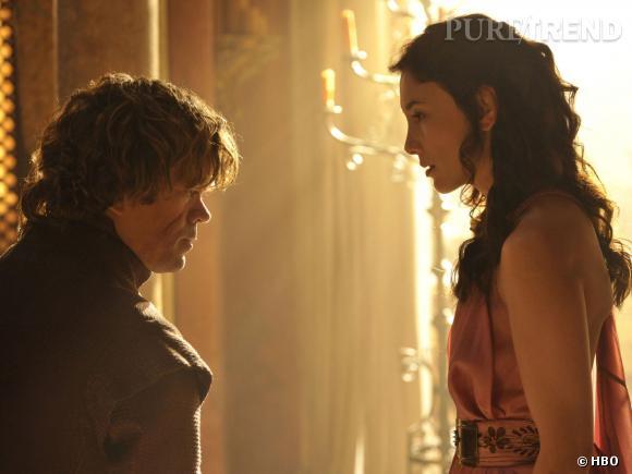"""Peter Dinklage (Tyrion Lannister) et Sibel Kekilli (Shae) dans les nouvelles photos de """"Game of Thrones"""" saison 4."""
