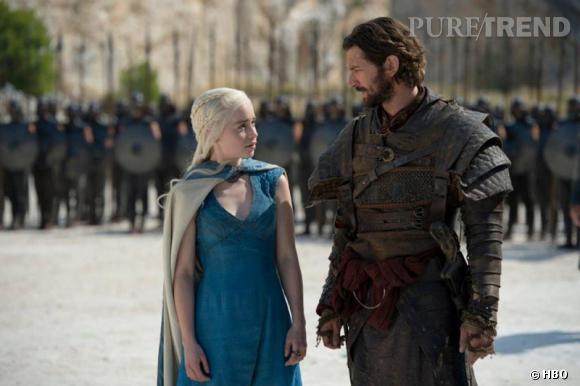 """Emilia Clarke et Michiel Huisman dans la saison 4 de  """"Game of Thrones""""."""