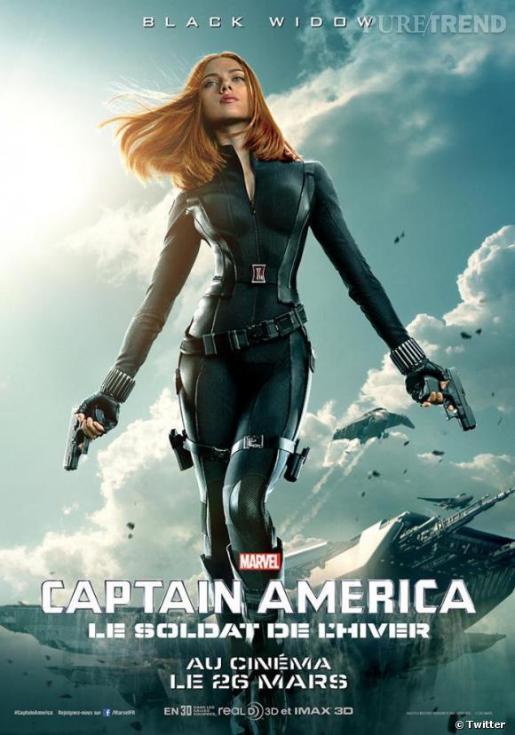 """Scarlett Johansson, un retour sexy dans """"Captain America : le soldat de l'hiver""""."""
