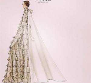 La robe Valentino de Tatiana, épouse d'Andrea Casiraghi.