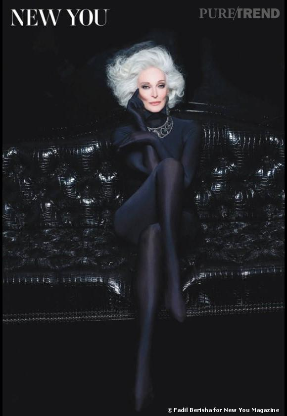 Carmen Dell'Orefice, 82 ans, pose pour New You.