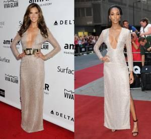 Alessandra Ambrosio vs Jourdan Dunn : la robe au décolleté plongeant